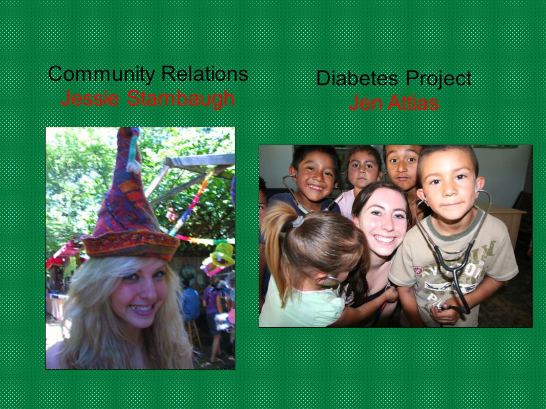 Community Relations Jessie Stambaugh Diabetes Project Jen Attias