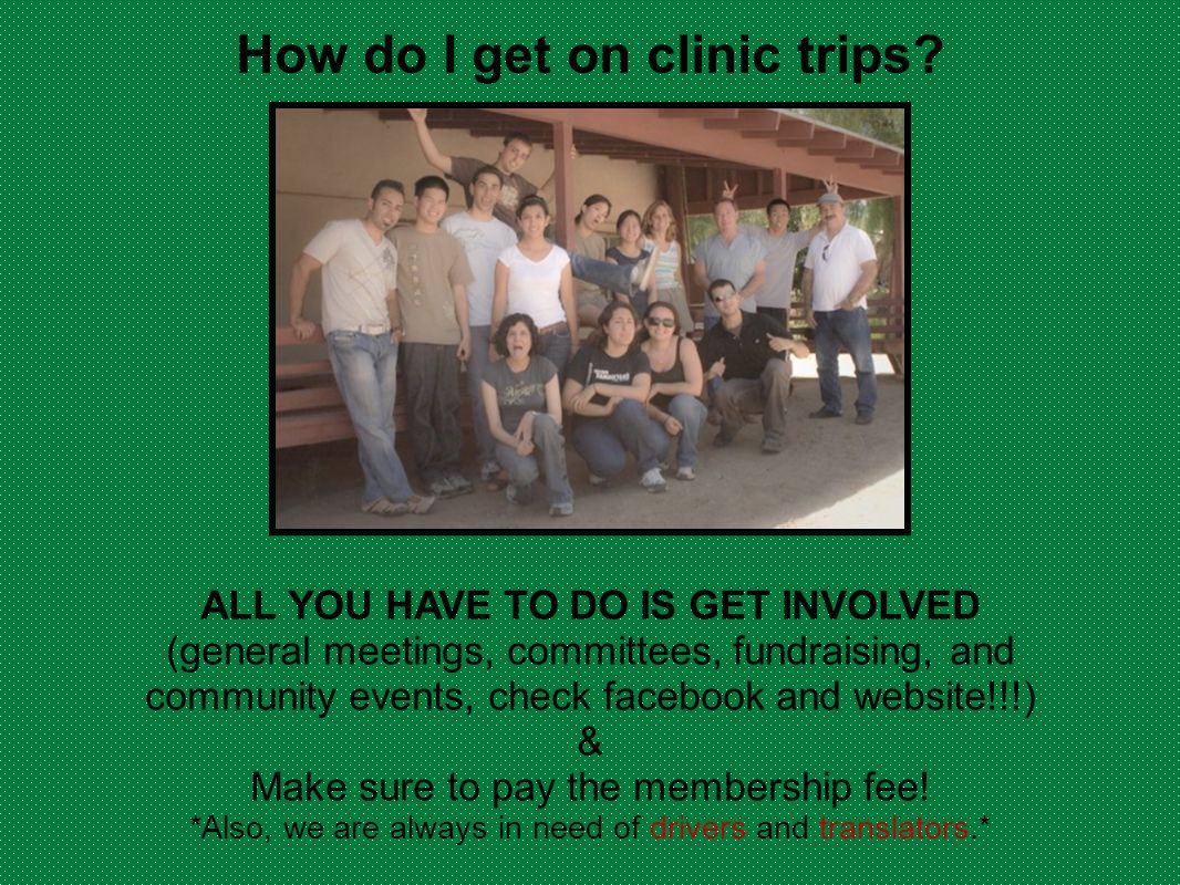 How do I get on clinic trips