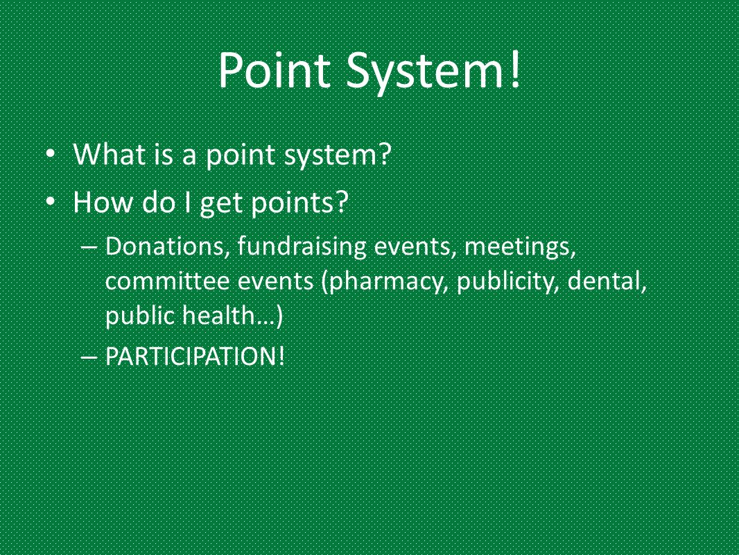 Point System! What is a point system How do I get points