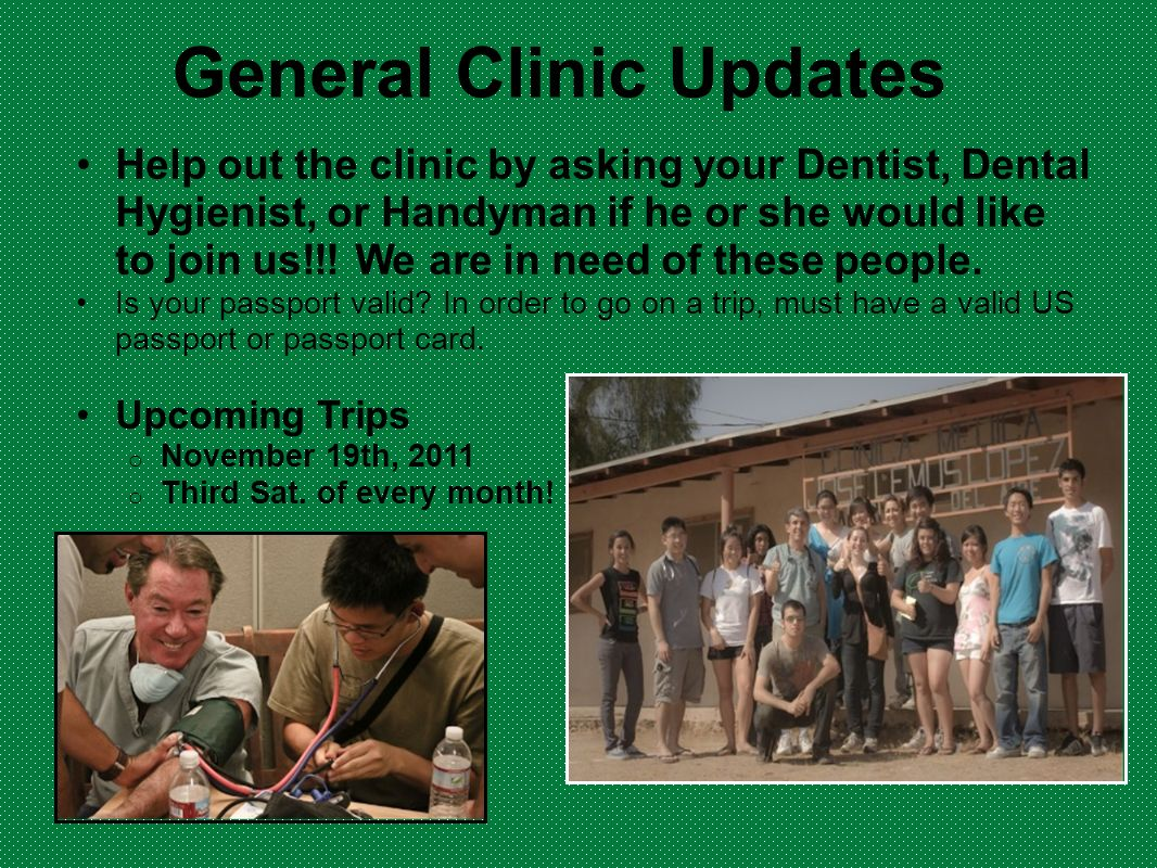 General Clinic Updates