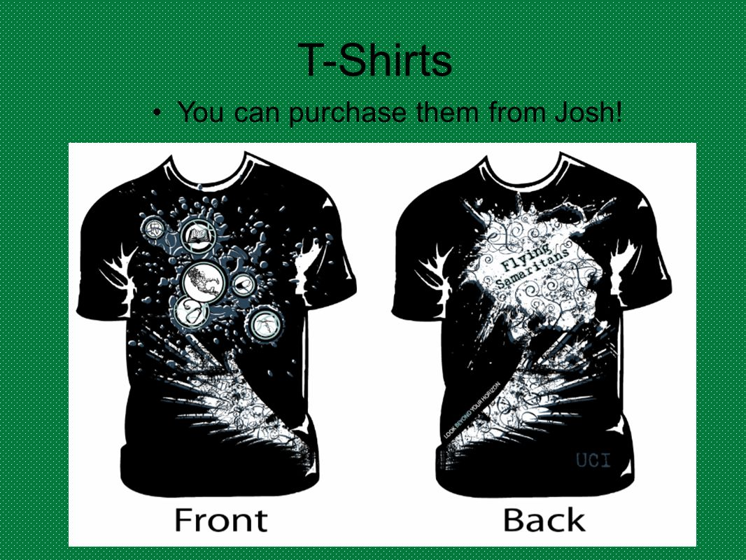 You can purchase them from Josh!