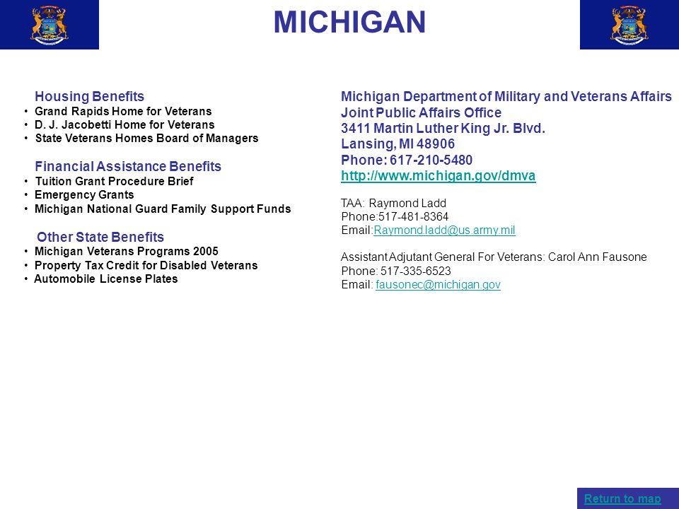 MICHIGAN Housing Benefits Financial Assistance Benefits