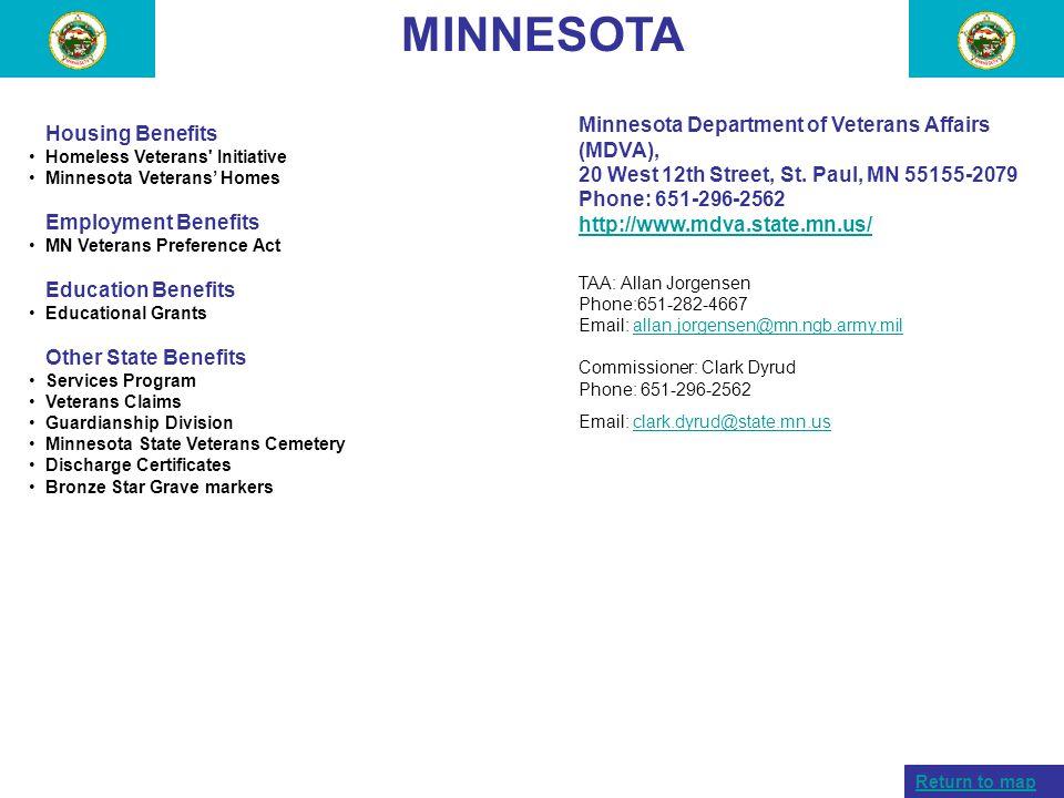 MINNESOTA Minnesota Department of Veterans Affairs (MDVA),