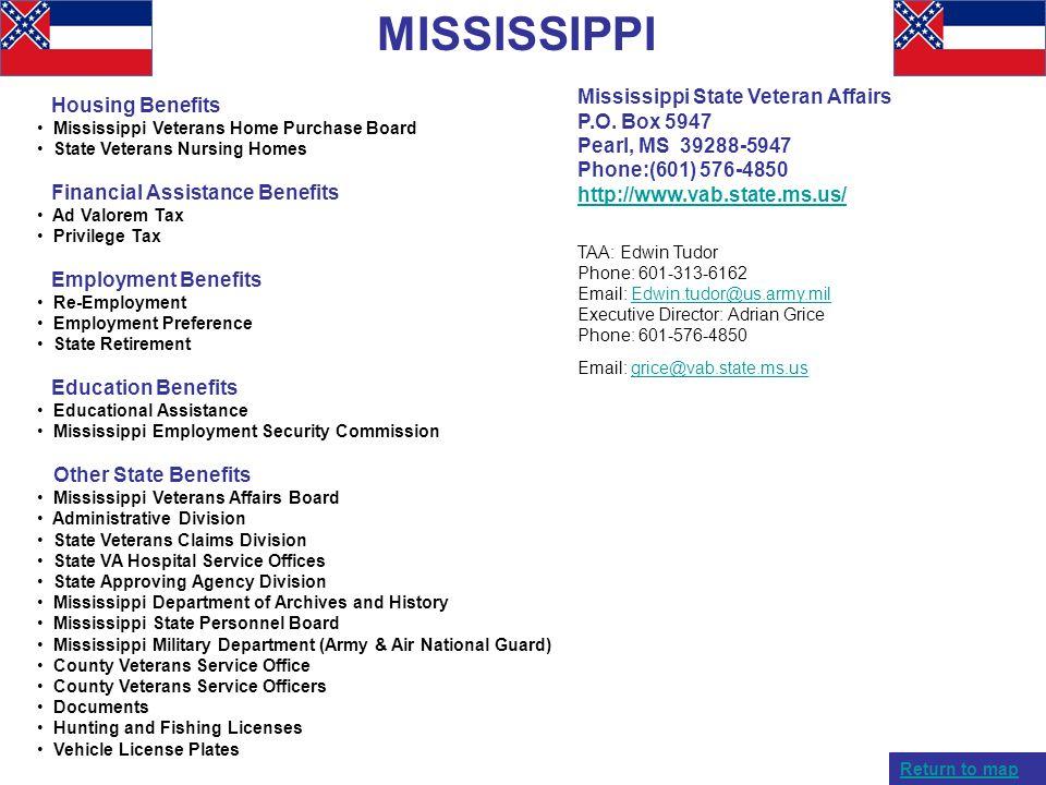MISSISSIPPI Mississippi State Veteran Affairs