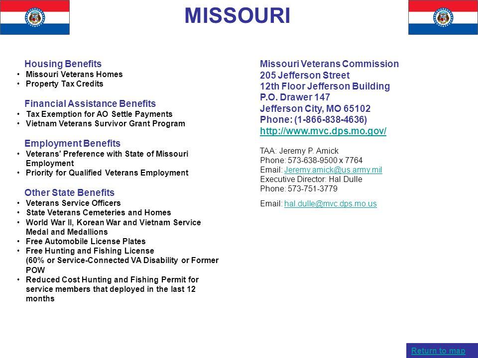 MISSOURI Housing Benefits Financial Assistance Benefits