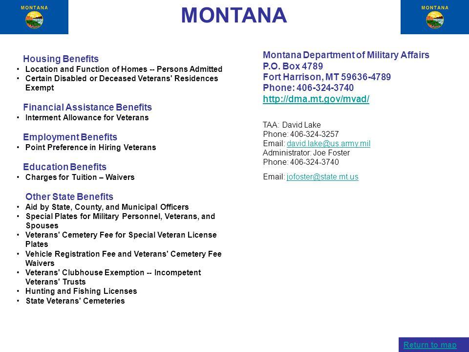 MONTANA Montana Department of Military Affairs P.O. Box 4789