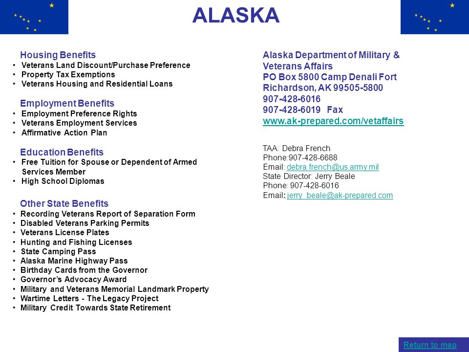 ALASKA Housing Benefits Employment Benefits Education Benefits