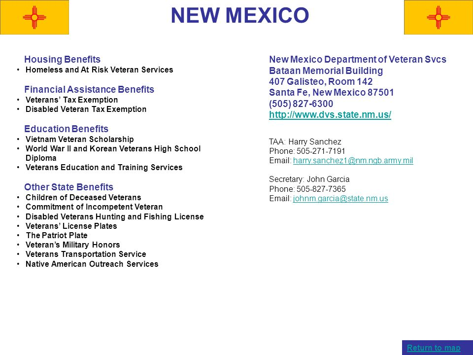 NEW MEXICO Housing Benefits Financial Assistance Benefits
