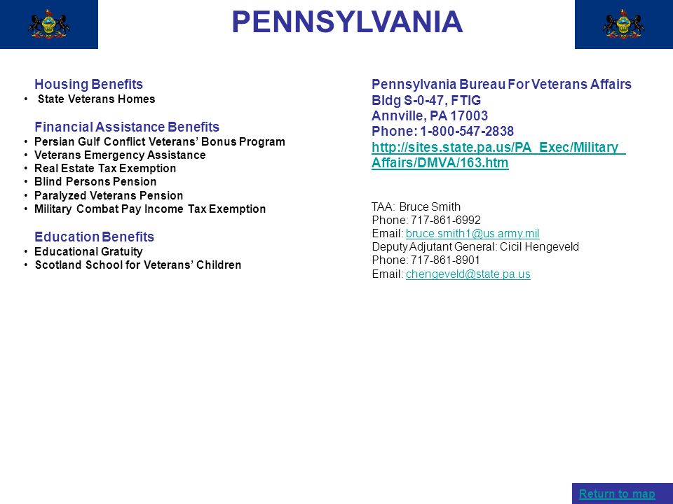 PENNSYLVANIA Housing Benefits Financial Assistance Benefits