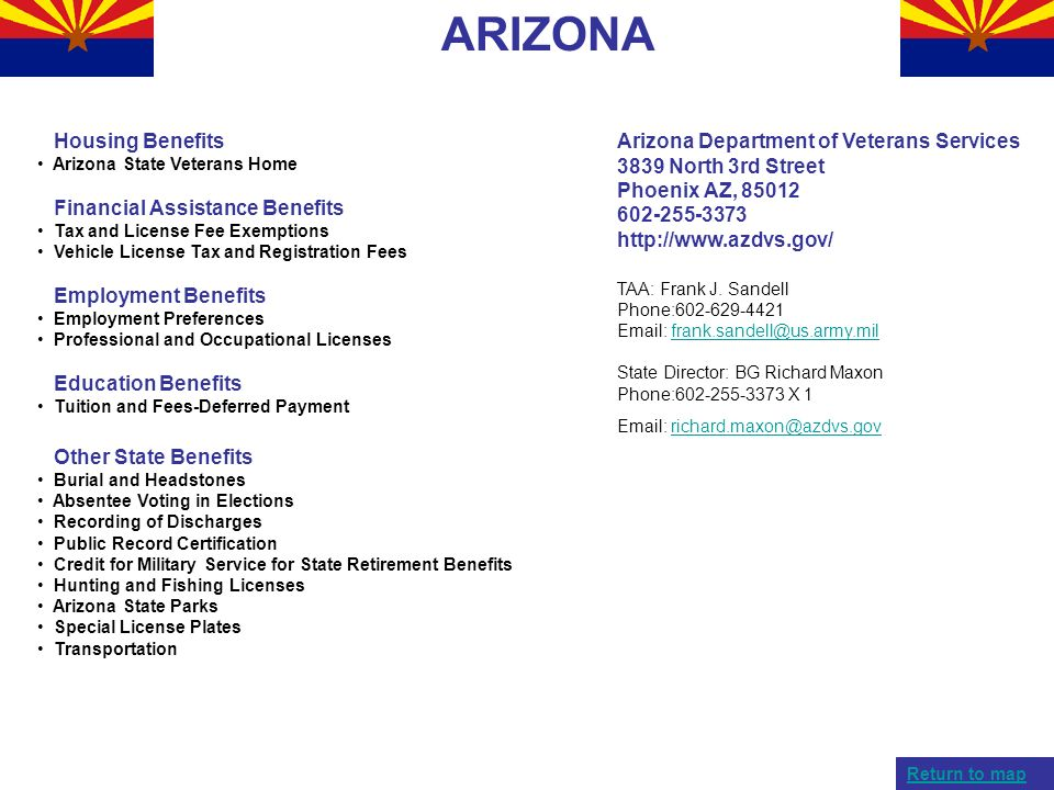 ARIZONA Housing Benefits Financial Assistance Benefits