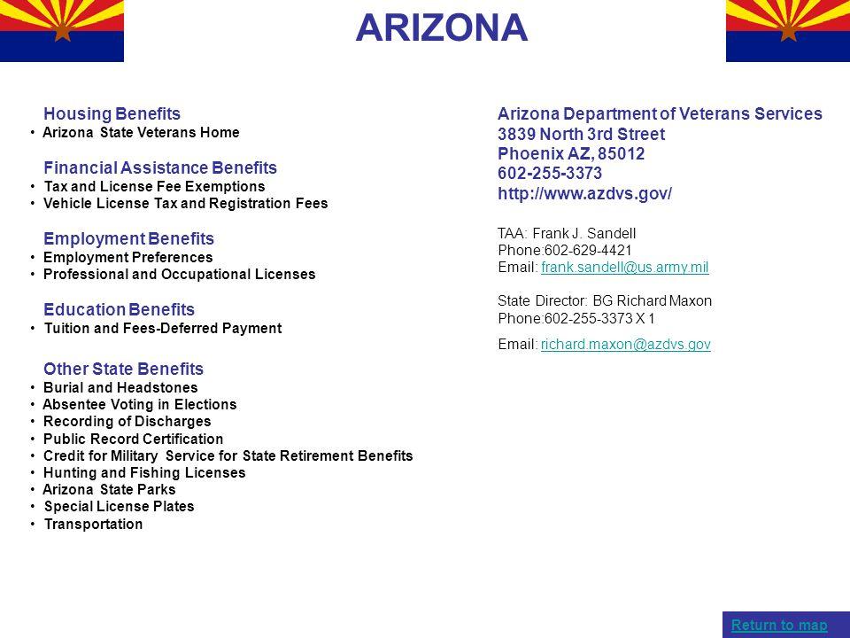 ARIZONA Housing Benefits Financial Assistance Benefits