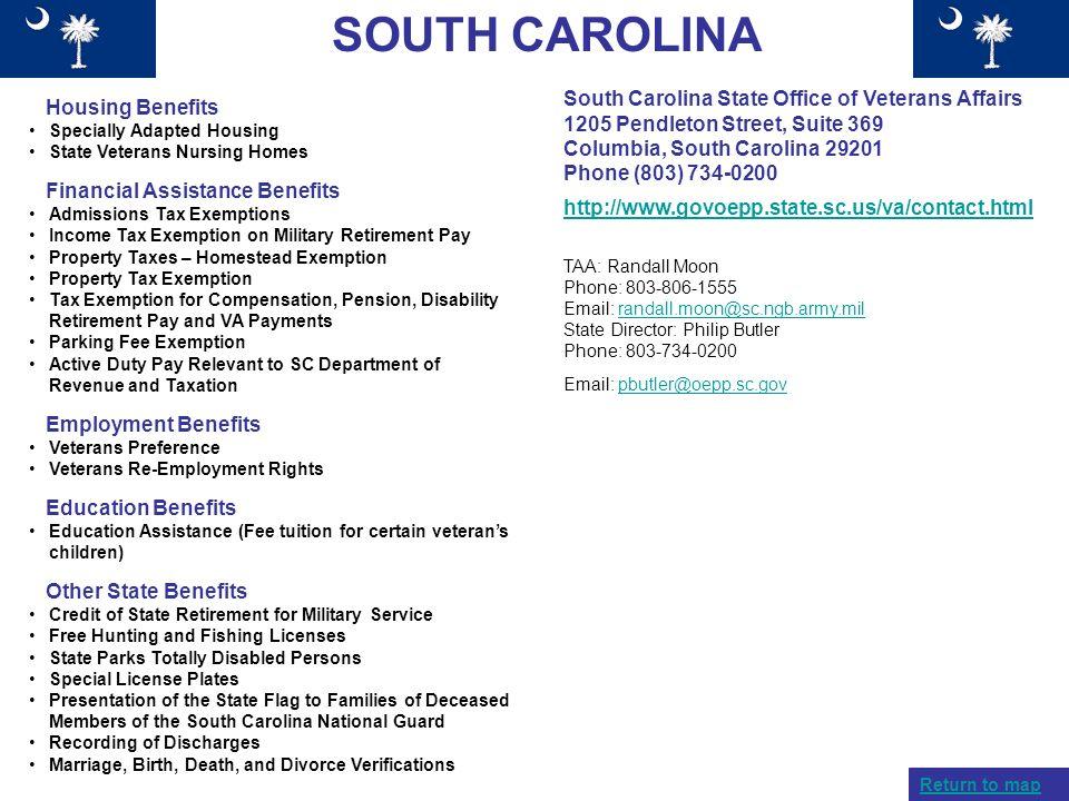 SOUTH CAROLINA South Carolina State Office of Veterans Affairs
