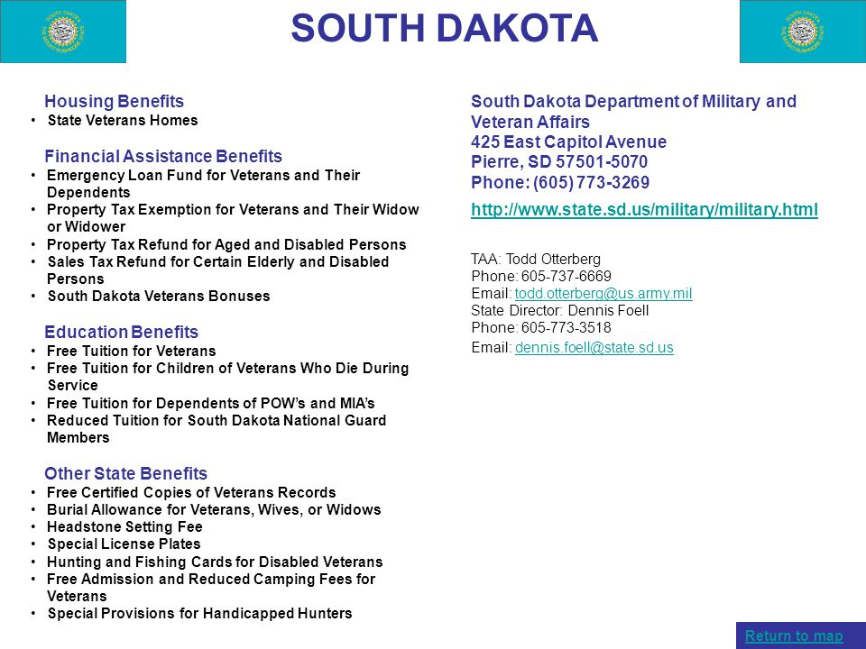 SOUTH DAKOTA Housing Benefits Financial Assistance Benefits