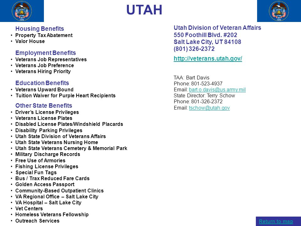 UTAH Housing Benefits Utah Division of Veteran Affairs