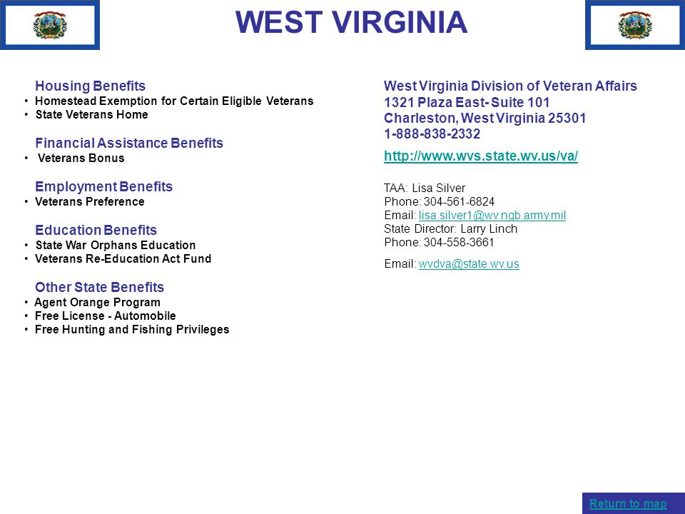 WEST VIRGINIA Housing Benefits Financial Assistance Benefits