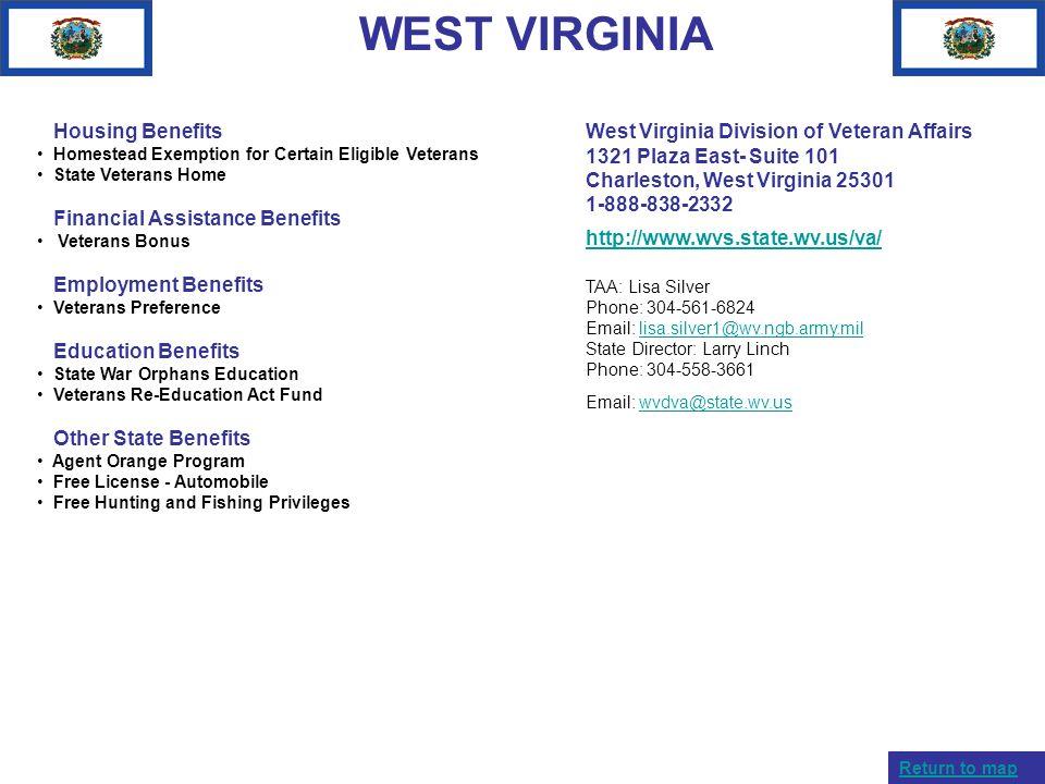 WEST VIRGINIA Housing Benefits Financial Assistance Benefits