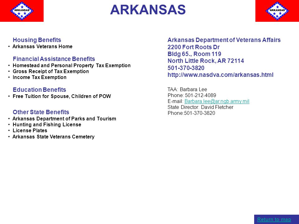 ARKANSAS Housing Benefits Financial Assistance Benefits