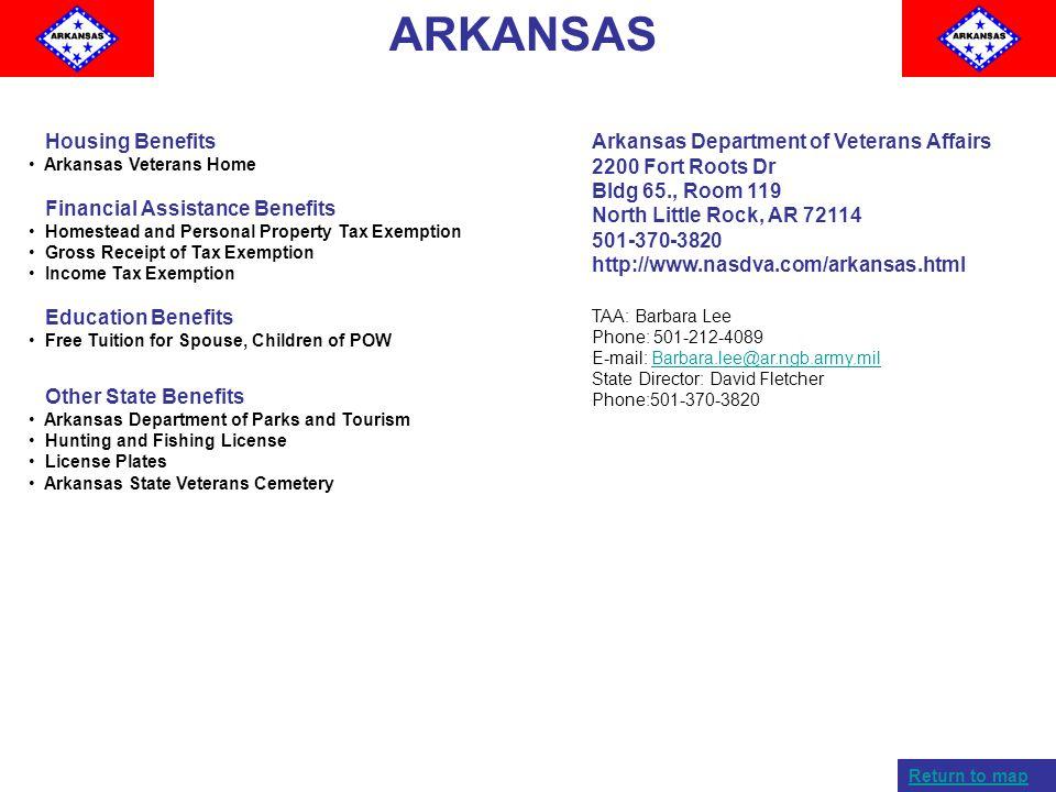 ARKANSAS Housing Benefits Financial Assistance Benefits