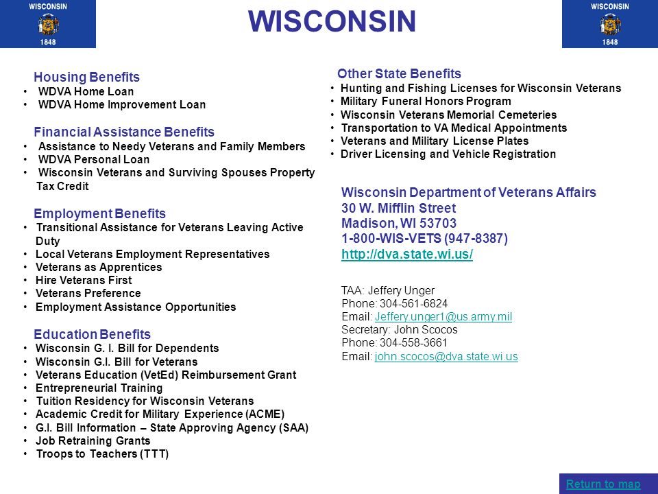 WISCONSIN Other State Benefits Housing Benefits