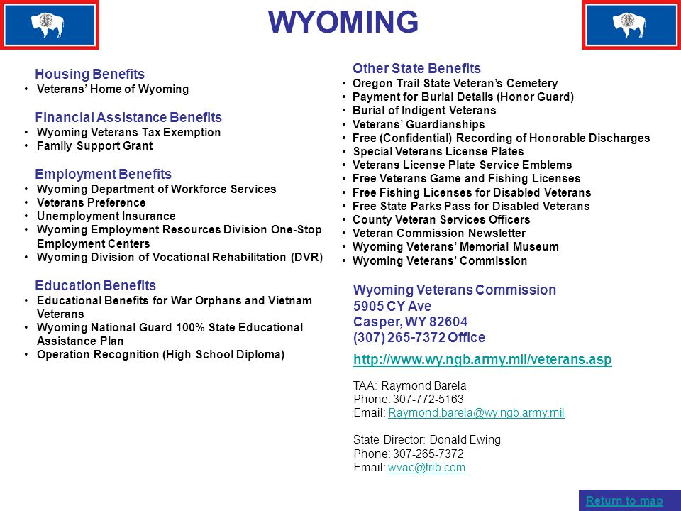 WYOMING Other State Benefits Housing Benefits