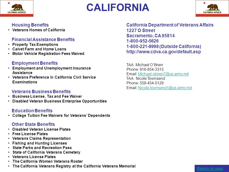 CALIFORNIA Housing Benefits Financial Assistance Benefits
