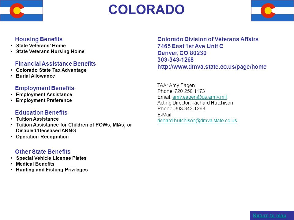COLORADO Housing Benefits Financial Assistance Benefits