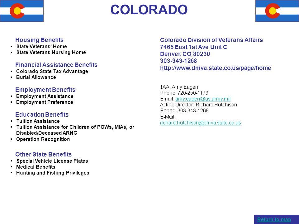 COLORADO Housing Benefits Financial Assistance Benefits