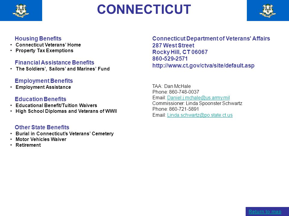 CONNECTICUT Housing Benefits Financial Assistance Benefits