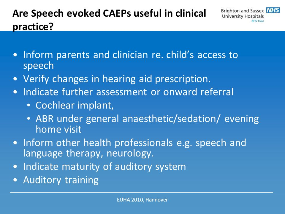 Are Speech evoked CAEPs useful in clinical practice