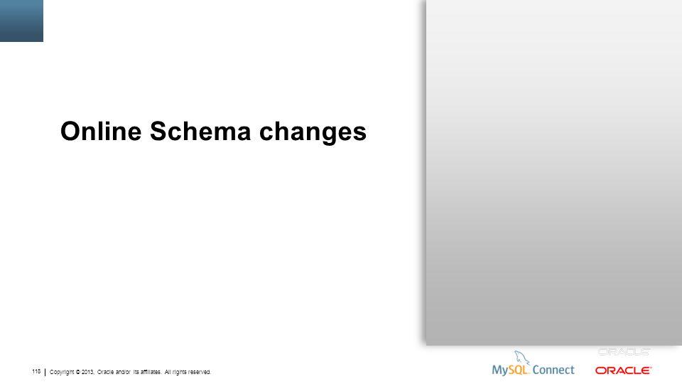 Online Schema changes
