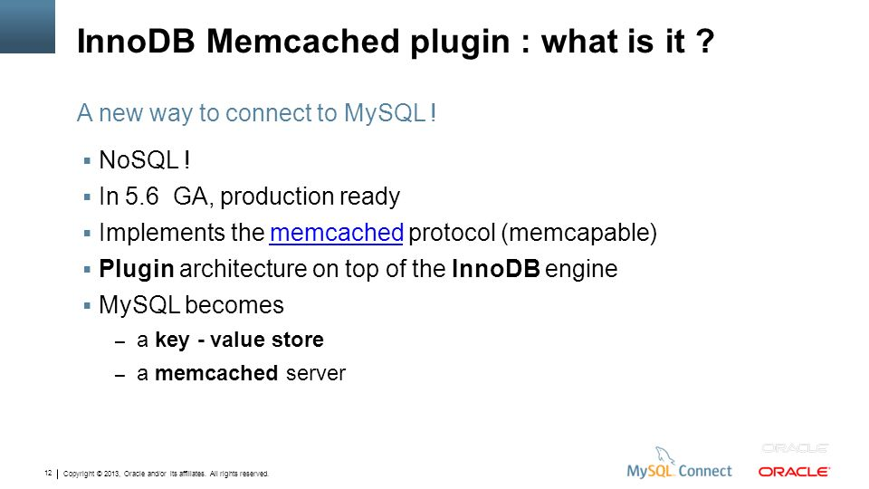 InnoDB Memcached plugin : what is it