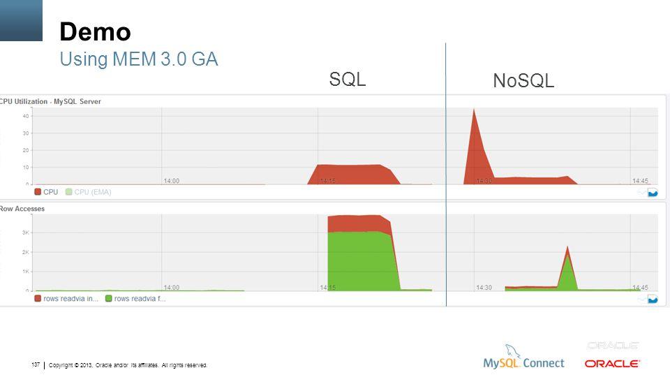 Demo Using MEM 3.0 GA SQL NoSQL