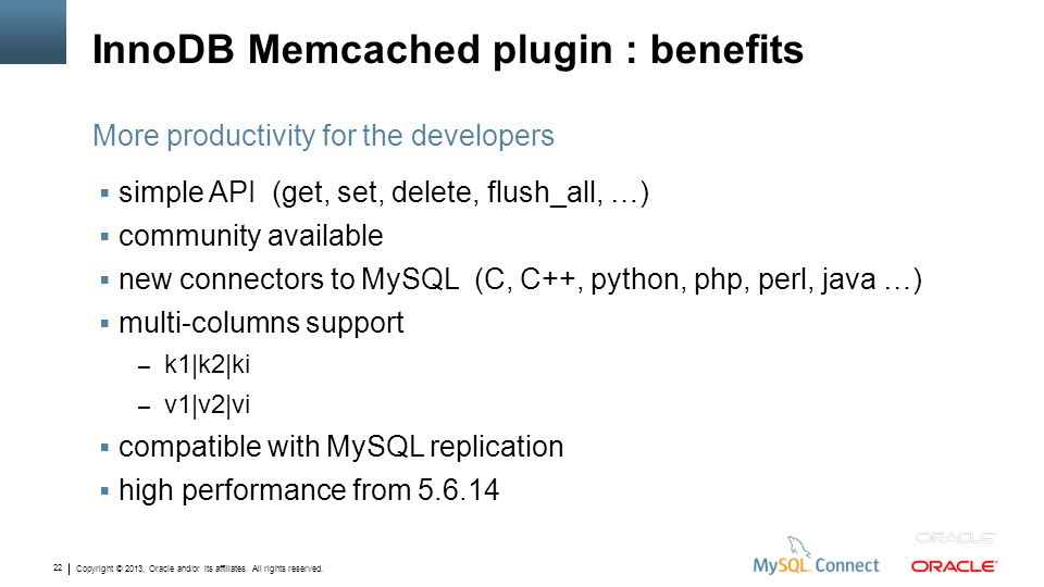 InnoDB Memcached plugin : benefits