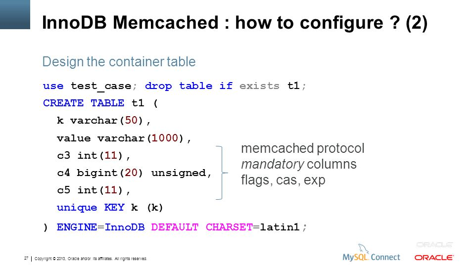 InnoDB Memcached : how to configure (2)
