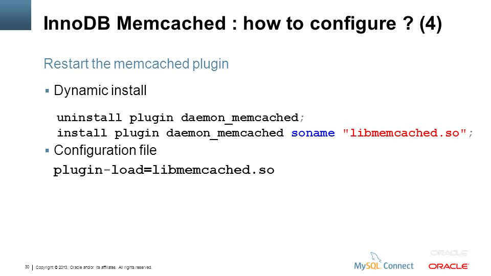 InnoDB Memcached : how to configure (4)