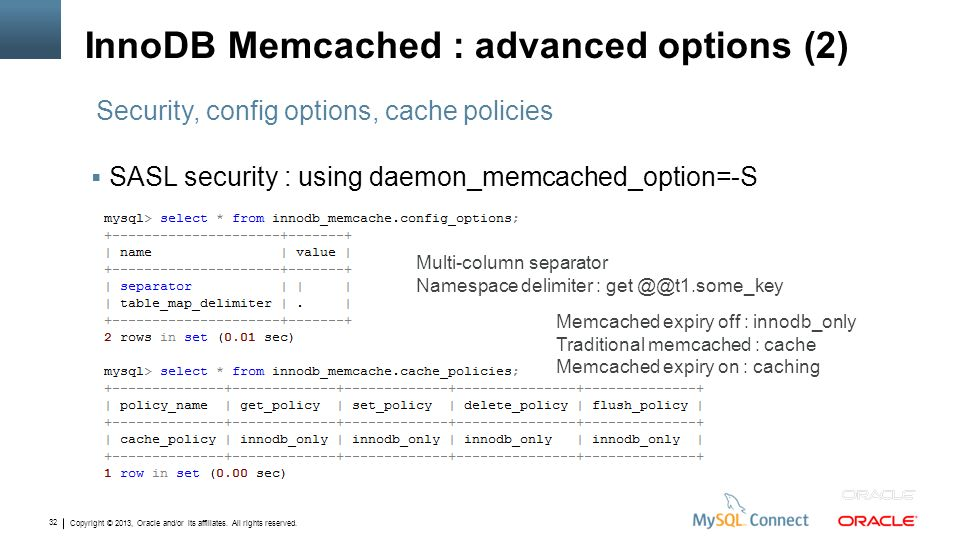 InnoDB Memcached : advanced options (2)