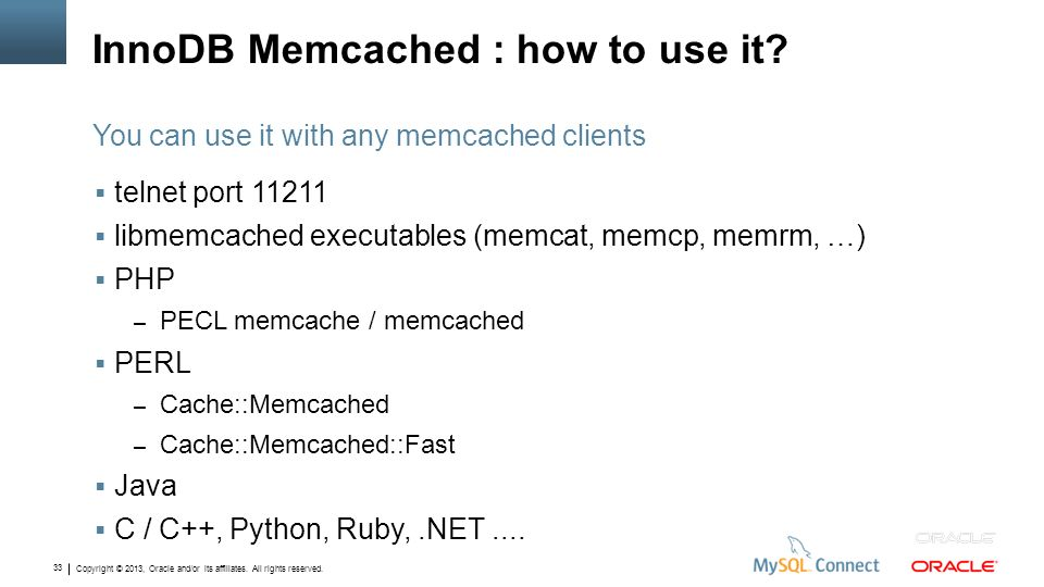 InnoDB Memcached : how to use it