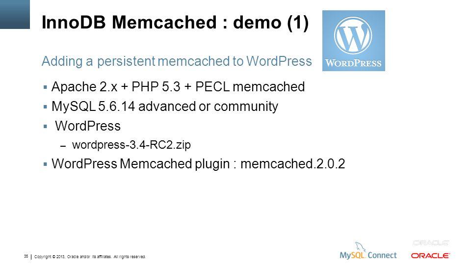 InnoDB Memcached : demo (1)