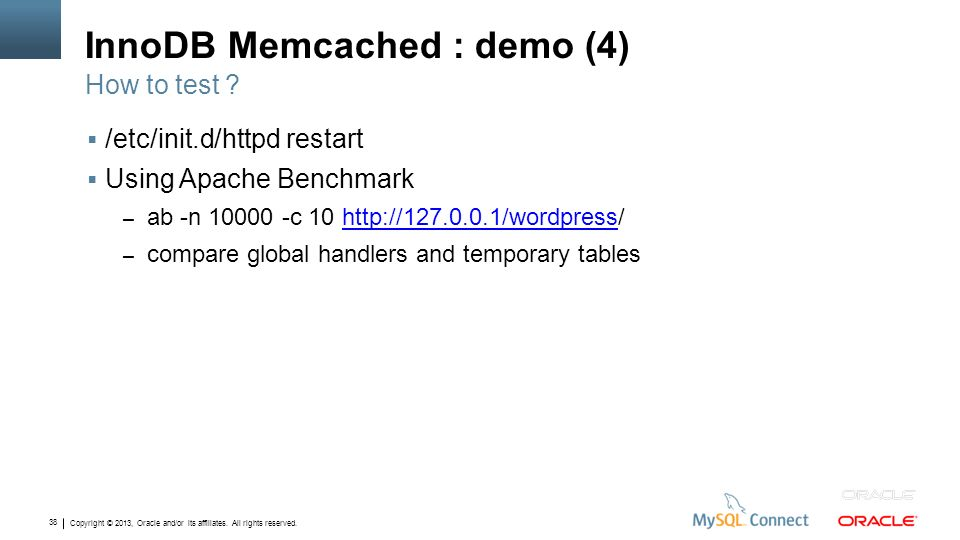 InnoDB Memcached : demo (4)