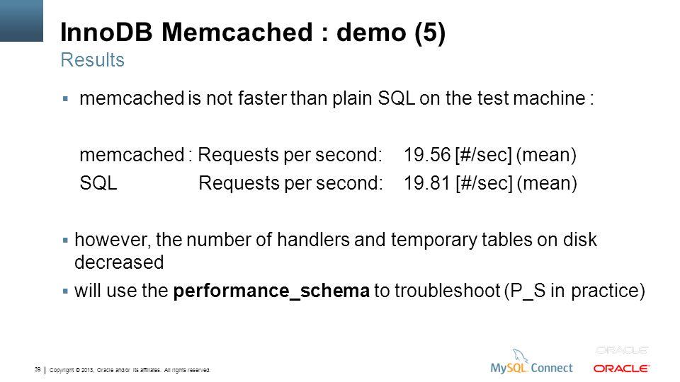 InnoDB Memcached : demo (5)