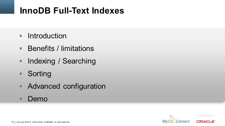 InnoDB Full-Text Indexes