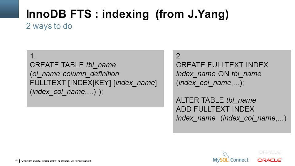 InnoDB FTS : indexing (from J.Yang)