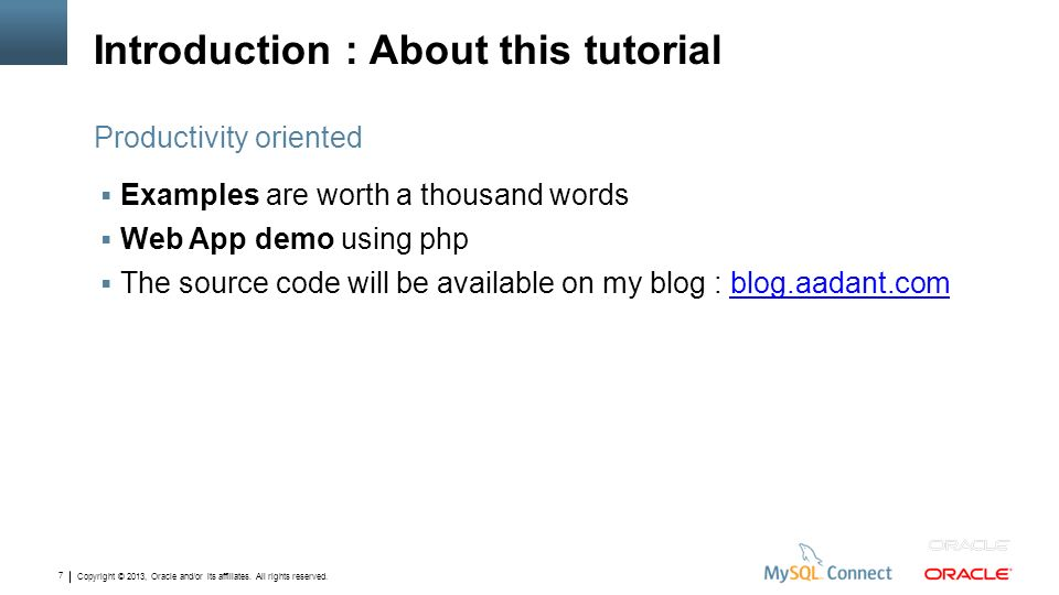 Introduction : About this tutorial