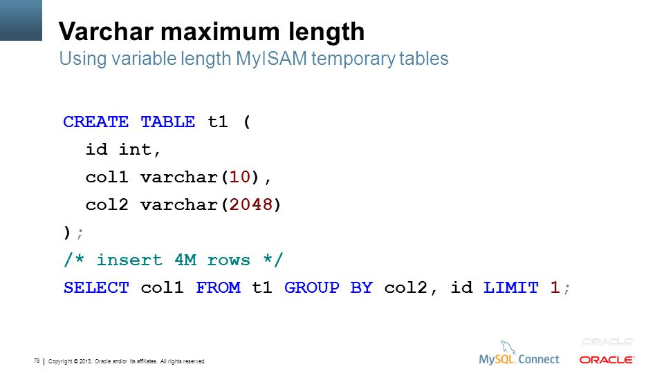 Varchar maximum length