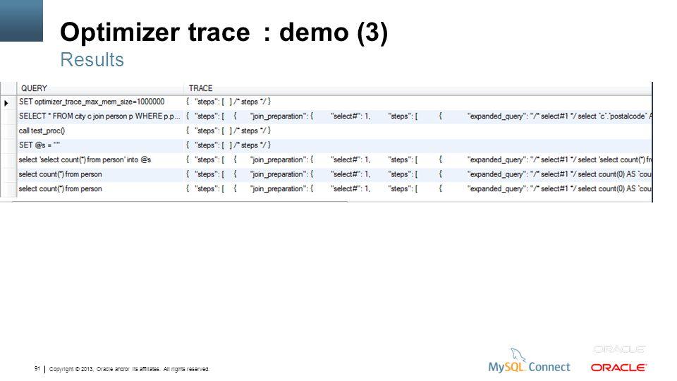 Optimizer trace : demo (3)
