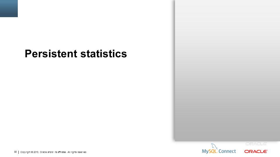 Persistent statistics