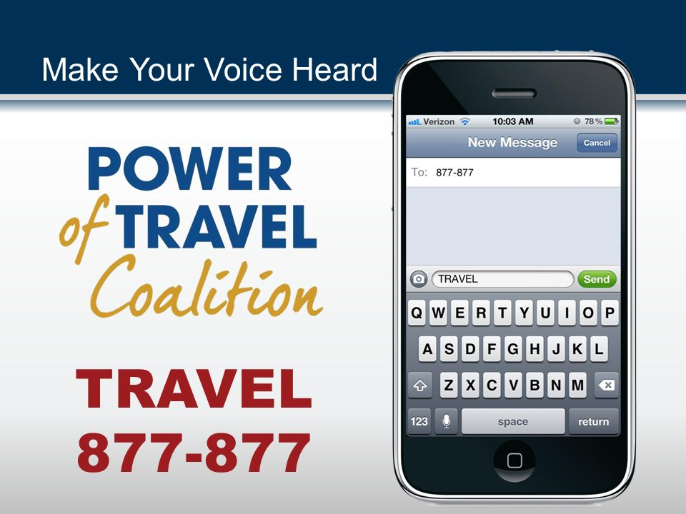 TRAVEL 877-877 Make Your Voice Heard