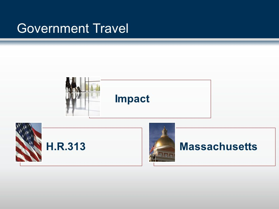 Government Travel Impact H.R.313 Massachusetts