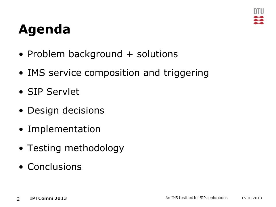 Agenda Problem background + solutions