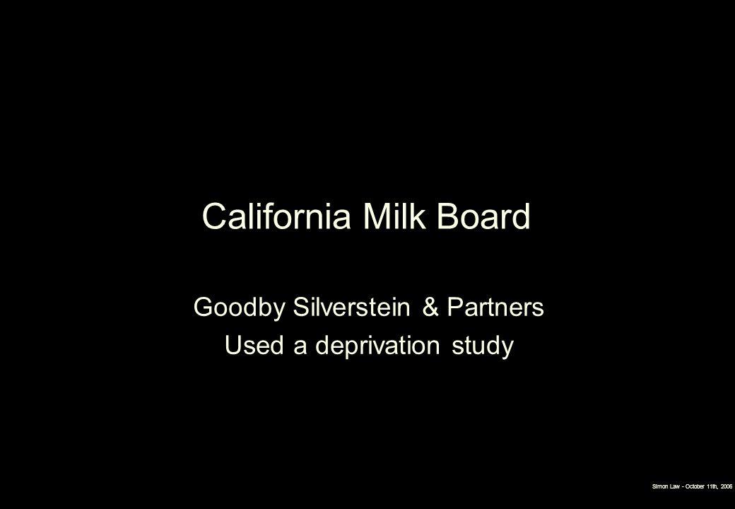 California Milk Board Goodby Silverstein & Partners